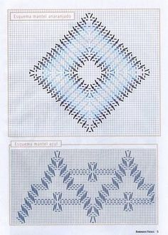 Bordados da Angela: GRAFICOS DE VAGONITE #freehuckembroidery