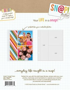 Happy Memory Keeping Big Page Protectors-12 Pre-punched Sheets 4 Designs//3 Each