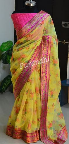 BOOKEDA saree with multiple colors in it !!To order contact on whatsapp : 9701673187 or email at purandhistore@gmail.com 11 October 2019