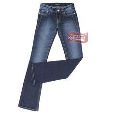Calça Jeans Feminina Azul Escuro Boot Cut Stone - Tassa Gold 16120  Mulheres.  Rodeo West 212c14706c5