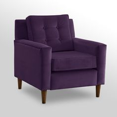 Have to have it. Aubergine Velvet Crate Chair $397.99