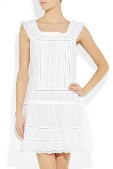 I love these sweet little white cotton dresses for a sun holiday or summer. Collette by Collette Dinnigan.