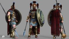 "Sparta Agema made for game ""Sparta : war of empires"" from Plarium. Model was involved in CG cinematic movie as main character and also as illustration in game."