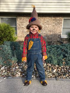 Crocheted scarecrow hat and costume Scarecrow Costume, Halloween Costumes, Wizard Of Oz, Baby Hats, Birthday Ideas, Hipster, Holidays, Fall, Crochet