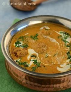 Kadhi without curds? if you are surprised, go ahead and try this recipe. This unusual recipe is created with a blend of tamarind water and besan spiced with a freshly-made paste. The koftas are also distinctive as they use a different combination of vegetables such as brinjals and cabbage.