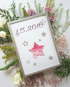 Button art - www. Button Art, Star, Decoration, Children, Spring, Frame, Creative, Baby, Handmade
