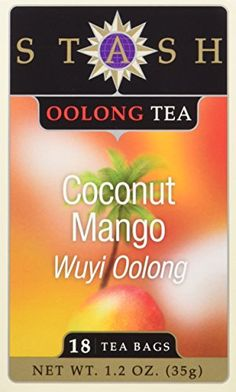 Stash Tea Coconut Mango Wuyi Oolong Tea 18 Count Tea Bags in Foil Pack of 6 *** Check out this great product. Note: It's an affiliate link to Amazon.