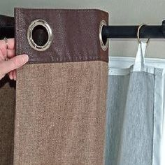 This is my easy fix for my grommet curtains to put lining behind to keep out light!  YES!