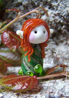 Highland Fairy glass bead by Glaskralen on Etsy, $33.00