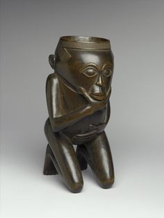 Wood, 8 x 4 x 5 in. Brooklyn Museum, Gift of Arturo and Paul Peralta-Ramos, Creative Commons-BY African Artists, African Tribes, Brooklyn, African Sculptures, Cup Art, Art Africain, Masks Art, African Masks, Afrikaans