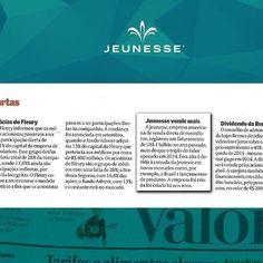 A Jeunesse está mais uma vez na mídia! Desta vez um dos jornais de maior credibilidade o Valor Econômico citou o crescimento fantástico da empresa! Impressionante o reconhecimento dos principais veículos da imprensa! Vem para Jeunesse http://ift.tt/1U7UqoC http://ift.tt/1PtMrn0