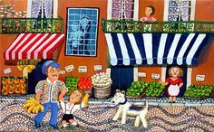 Fathers' Day Is Every Day with Naive Art! But our 10% Off  SITEWIDE SALE Lasts ONE WEEK Only! Check out our international collection of Naive 'Father' paintings and Use coupon code LOVEDAD.