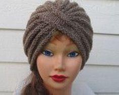 806d6ad44aae Chapeau Turban, Chapeau Femme, Tricot Hiver, Bonnet Tricot, Echarpe, Tricot  Et