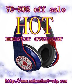 Monster Beats by Dr. Dre Studio Red Sox Definition Headphones-Blue