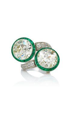 Moda Operandi | One-Of-A-Kind Double Diamond Ring/Earrings With