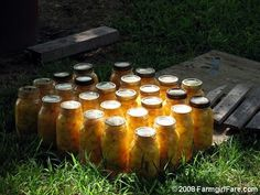 Amish canned peaches from Farmgirl!!