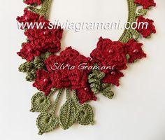 Silvia Gramani Crochê: Colar Mistral Flower