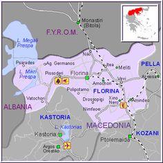 Florina map GREECE - Detailed map of Florina - My roots
