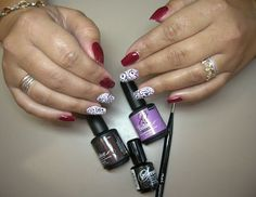 Stunning Nail Art Using NSI's NEW Go Color Tack Free Enhancement Gel Polish & Secrets Design Gels