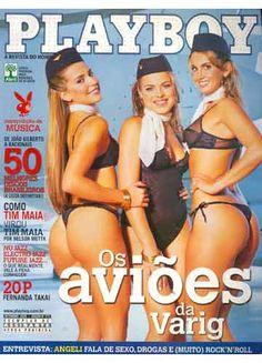 Playboy - Capa: Os Aviões da Varig - Edição Setembro 2006