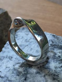 Mobius ring, sterling silver ring, mens ring, womens ring, heavy sterling silver handmade