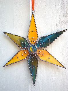 Stained Glass Star with Parrot from Broken by GlasgowRoseGlass