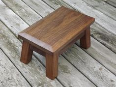 Shop a great selection of solid walnut wood step stool foot stool beveled edge riser 10 high. Find new offer and Similar products for solid walnut wood step stool foot stool beveled edge riser 10 high. Black Walnut Tree, Walnut Wood, Handmade Furniture, Wood Furniture, Furniture Risers, Wood Steps, Wooden Stools, Wooden Footstool, Into The Woods