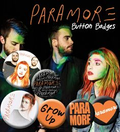 Paramore Logos Badge Pack Badge på AllPosters.dk