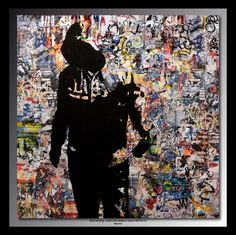 Hey You - Peinture, 100x100 cm ©2014 par TEHOS - Pop Art, Autre, Culture populaire / célébrité, tehos, modern art, tag wall, graffiti, pop art, street art, society fact, collage on canvas, tableau tehos, art moderne, design, contemporain, expressionisme abstrait, cubisme, huile, acrylique, toile, collage