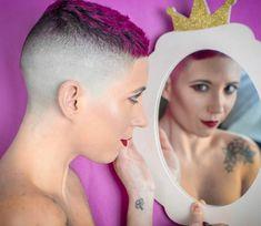 Green Hair, Purple Hair, Short Styles, Long Hair Styles, High And Tight Haircut, Hair Tattoos, Hair Dye Colors, Shaved Hair, Mermaid Hair