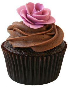 Rose Chocolate Cupcake
