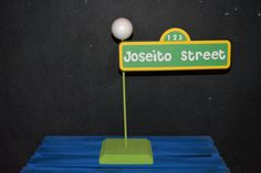 Sesame Street Sign With Childs Name This sign is such a great touch to any Sesame Street Party!!!    I make them out of cardstock Paper then I