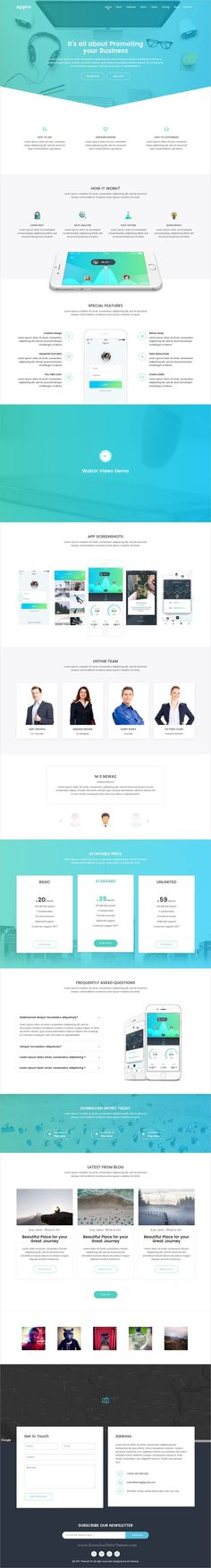 Appro is simple and clean design responsive #HTML bootstrap template for professional app #landing page website with 10+ homepage layouts download now➩ https://themeforest.net/item/appro-creative-app-landing-html5-template/19696258?ref=Datasata