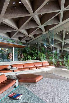 Sheats Goldstein House by John Lautner in LA, Photographed by Tom Ferguson.