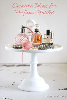 What do you do with empty perfume bottles? Give them a second life with these creative ideas for displaying and repurposing perfume bottles!