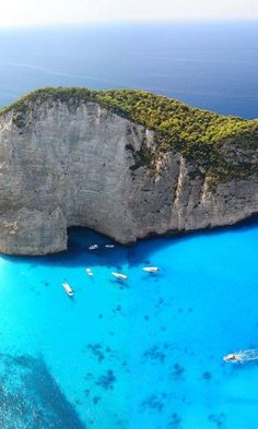 The turquoise waters of Navagio bay in Zakynthos island ~ Greece