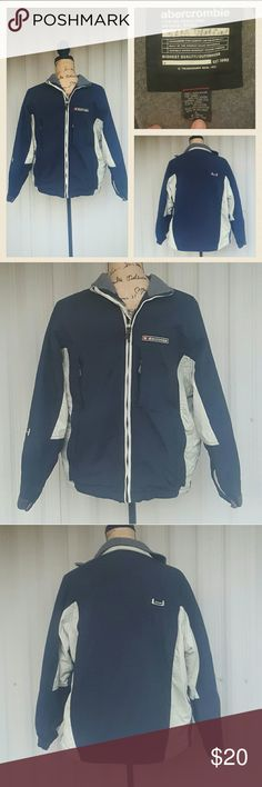 Boys Lg Abercrombie jacket Excellent condition and has tons of functional pockets. Including two breast pockets, two standard sode pockets, and a large inner pocket which can run headphones through. Very nice. abercrombie kids Jackets & Coats