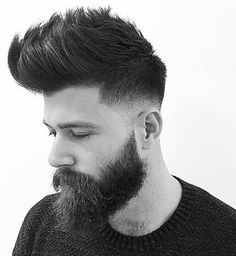 Quiff Low Fade Pompadour Hairstyle