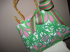Lilly Pulitzer Handmade Tote Bag Purse $34.95 via Etsy