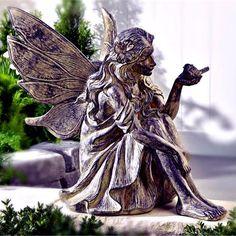 Cement Fairy Garden Statue