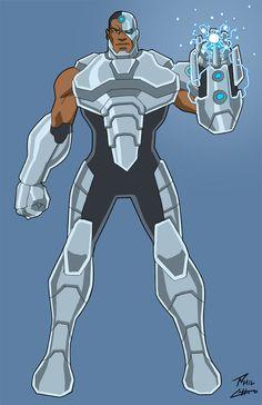 Cyborg by phil-cho Dc Heroes, Comic Book Heroes, Comic Books Art, Cyborg Dc Comics, Dc Comics Art, Comic Manga, Manga Anime, Marvel Vs, Marvel Comics