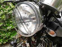 Headlight Guard - Style #2 Cx500 Cafe, Charcoal Grill, Motorcycle Parts, Outdoor Decor, Home Decor, Style, Coal Grill, Homemade Home Decor, Charcoal Bbq Grill