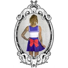 Sailor Moon Skater Skirt by ToothAndEye, designed and handmade in Kamloops, BC, Canada!