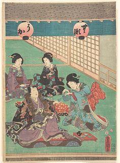 Utagawa Kunisada (Japanese, 1786–1864) Period: Edo period (1615–1868) Culture: Japan Medium: Polychrome woodblock print; ink and color on paper Classification: Print