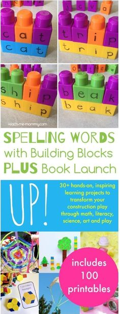 A fab way to use building blocks to teach literacy! We love this hands-on project for young children and toddlers. It could also be used with homeschoolers and in after-school programs :) www.teach-me-mommy.com/ teach-me-mommy.com