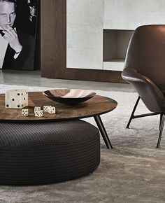 Coffee table / contemporary / glass / aluminum - SULLIVAN - Minotti