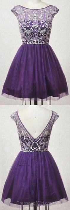 Purple Homecoming Dresses, Short Prom Dresses, Modest Cocktail Dress, Classy Graduation Dresses, Elegant Party Gowns