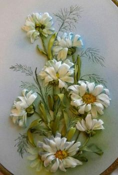 Wonderful Ribbon Embroidery Flowers by Hand Ideas. Enchanting Ribbon Embroidery Flowers by Hand Ideas. Ribon Embroidery, Ribbon Embroidery Tutorial, Embroidery Stitches, Embroidery Patterns, Embroidery Supplies, Ribbon Art, Ribbon Crafts, Band Kunst, Brazilian Embroidery