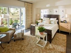 HGTV Smart Home 2013 – Master Bedroom featuring Sherwin-Williams paint colors neutral Crisp Linen (SW 6378) and Pure White (SW 7005)