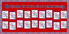 """""""I Pledge To Have Good Character!"""" Patriotic Bulletin Board"""
